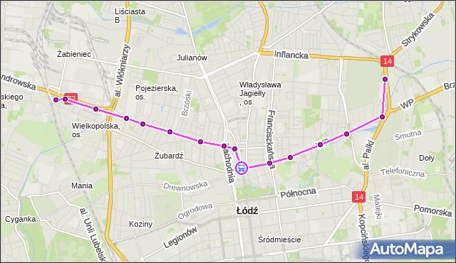 Rozkład jazdy tramwaju 5 na przystanku Zgierska - pl. Kościelny. MPKLodz na mapie Targeo