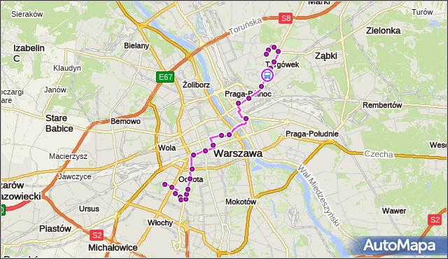 Rozkład jazdy autobusu 512 na przystanku Bieżuńska 02. ZTM Warszawa na mapie Targeo