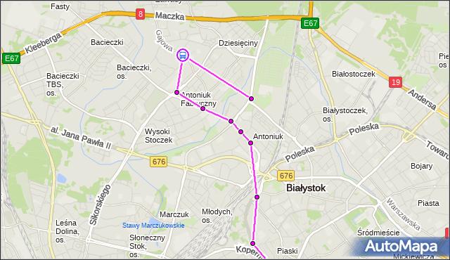Rozkład jazdy autobusu 19 na przystanku Gajowa/Zagórna. BKM na mapie Targeo