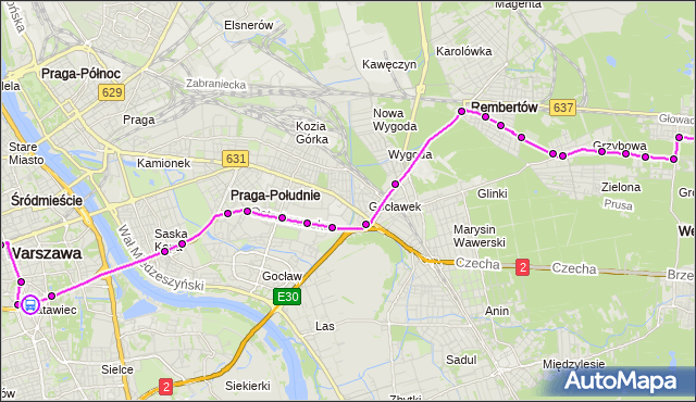 Rozkład jazdy autobusu 514 na przystanku Marszałkowska 02. ZTM Warszawa na mapie Targeo