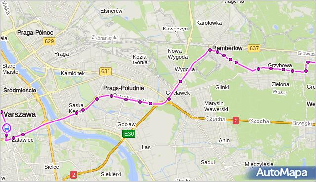 Rozkład jazdy autobusu 514 na przystanku pl.Konstytucji 01. ZTM Warszawa na mapie Targeo