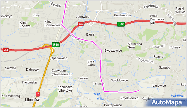 Rozkład jazdy autobusu 145 na przystanku Swoszowice Sklep. MPKKrakow na mapie Targeo