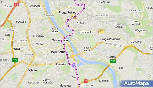 Rozkład jazdy autobusu 162 na przystanku Szwoleżerów 04. ZTM Warszawa na mapie Targeo
