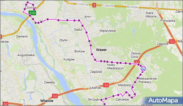 Rozkład jazdy autobusu 213 na przystanku Jachtowa 02. ZTM Warszawa na mapie Targeo
