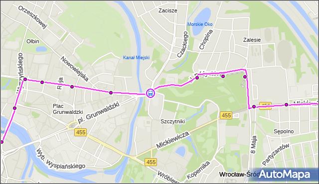 Rozkład jazdy tramwaju 17 na przystanku Kochanowskiego. MPKWroclaw na mapie Targeo