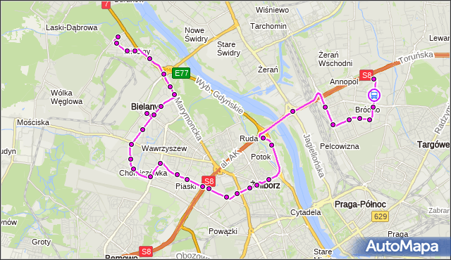 Rozkład jazdy autobusu 114 na przystanku Łojewska 01. ZTM Warszawa na mapie Targeo