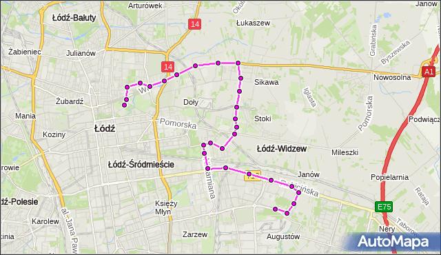 Rozkład jazdy autobusu 64 na przystanku Źródłowa/Wojska Polskiego. MPK Łódź na mapie Targeo
