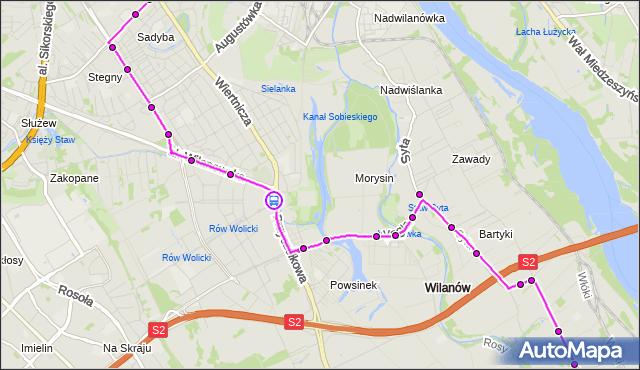 Rozkład jazdy autobusu 164 na przystanku Wilanów 01. ZTM Warszawa na mapie Targeo