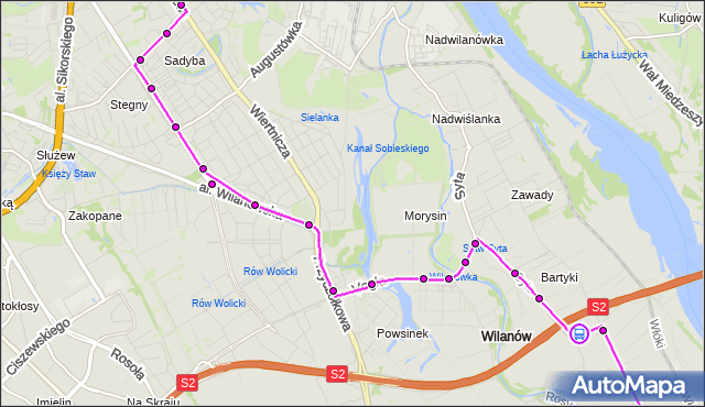 Rozkład jazdy autobusu 164 na przystanku Metryczna 02. ZTM Warszawa na mapie Targeo