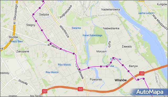 Rozkład jazdy autobusu 164 na przystanku Sobieskiego 04. ZTM Warszawa na mapie Targeo