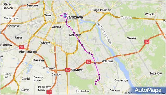 Rozkład jazdy autobusu 519 na przystanku Centrum 01. ZTM Warszawa na mapie Targeo