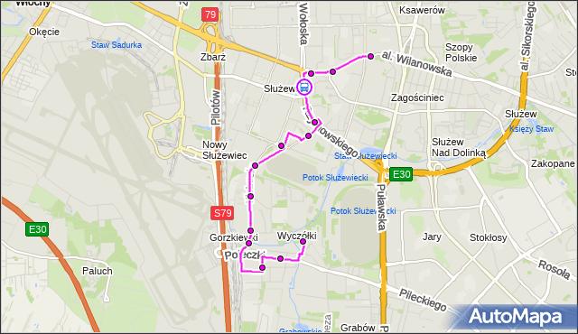 Rozkład jazdy autobusu 165 na przystanku Cybernetyki 02. ZTM Warszawa na mapie Targeo