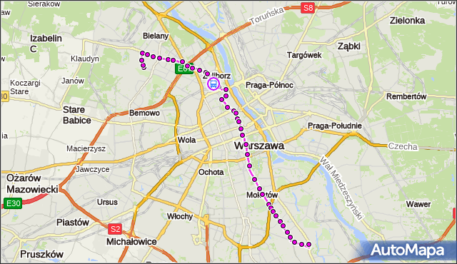 Rozkład jazdy autobusu 116 na przystanku gen.Zajączka 01. ZTM Warszawa na mapie Targeo