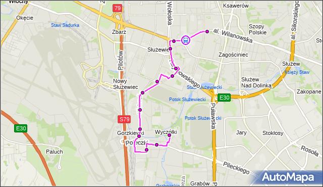 Rozkład jazdy autobusu 165 na przystanku Instytut Fizyki 03. ZTM Warszawa na mapie Targeo