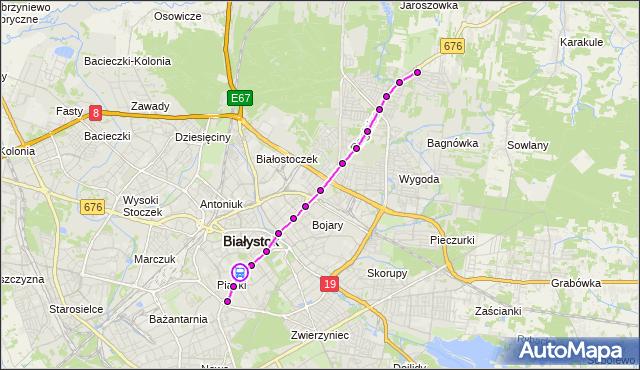 Rozkład jazdy autobusu 3 na przystanku KACZOROWSKIEGO/OPERA PODLASKA. BKM na mapie Targeo