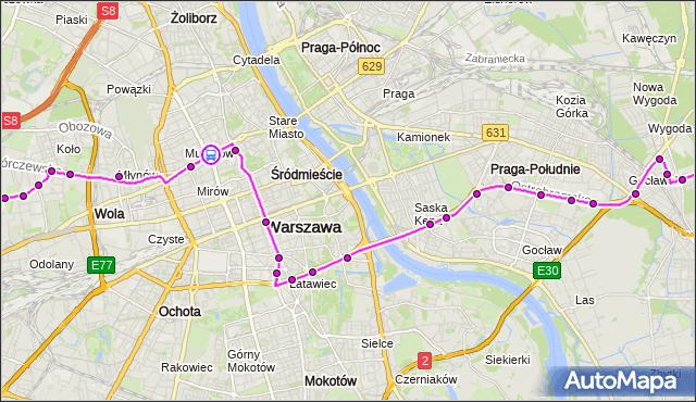 Rozkład jazdy autobusu 520 na przystanku Kino Femina 03. ZTM Warszawa na mapie Targeo