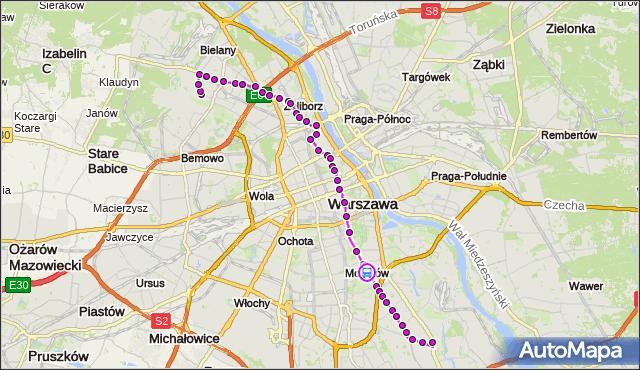 Rozkład jazdy autobusu 116 na przystanku Kostrzewskiego 01. ZTM Warszawa na mapie Targeo