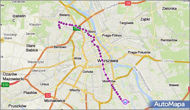 Rozkład jazdy autobusu 116 na przystanku Królowej Marysieńki 01. ZTM Warszawa na mapie Targeo