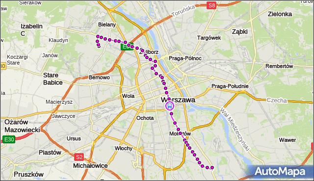 Rozkład jazdy autobusu 116 na przystanku pl.Na Rozdrożu 01. ZTM Warszawa na mapie Targeo