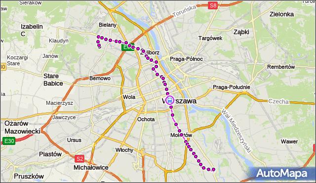 Rozkład jazdy autobusu 116 na przystanku pl.Trzech Krzyży 03. ZTM Warszawa na mapie Targeo