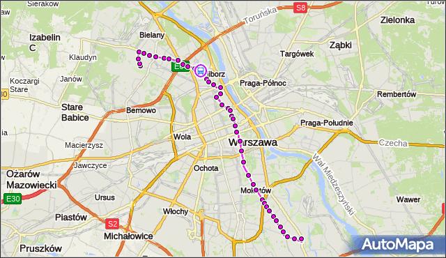Rozkład jazdy autobusu 116 na przystanku pl.Wilsona 01. ZTM Warszawa na mapie Targeo