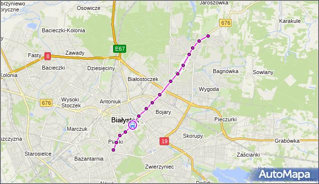 Rozkład jazdy autobusu 3 na przystanku Sienkiewicza/Rynek Kościuszki. BKM na mapie Targeo