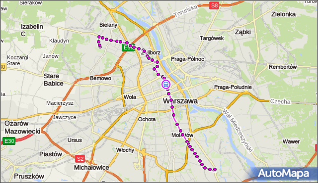 Rozkład jazdy autobusu 116 na przystanku Uniwersytet 01. ZTM Warszawa na mapie Targeo