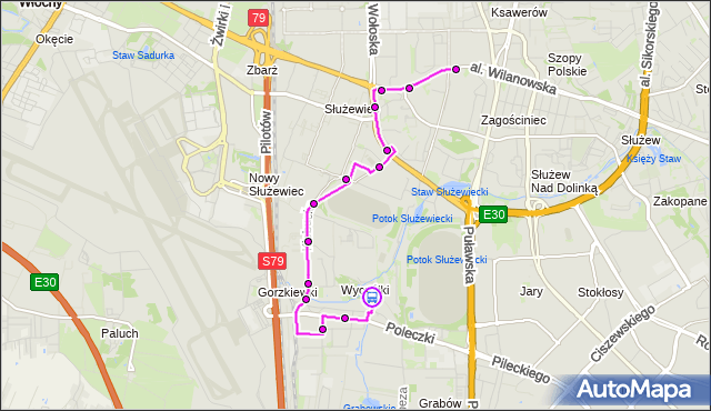 Rozkład jazdy autobusu 165 na przystanku Wyczółki 01. ZTM Warszawa na mapie Targeo