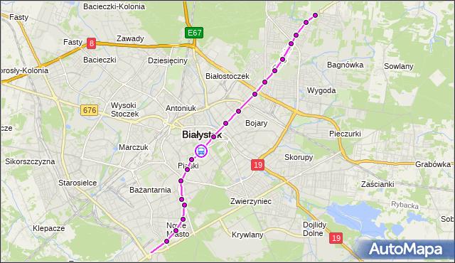 Rozkład jazdy autobusu 3 na przystanku LEGIONOWA/PIĘKNA. BKM na mapie Targeo