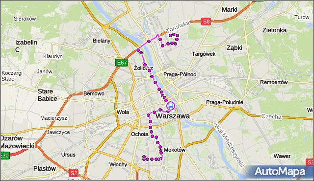 Rozkład jazdy autobusu 118 na przystanku Al. 3 Maja 01. ZTM Warszawa na mapie Targeo