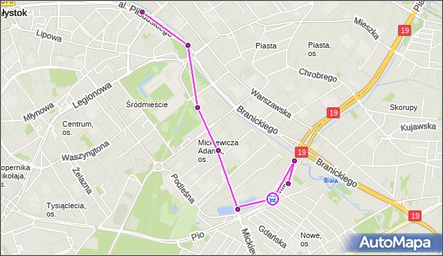 Rozkład jazdy autobusu 7 na przystanku Miłosza/Atrium Biała. BKM na mapie Targeo