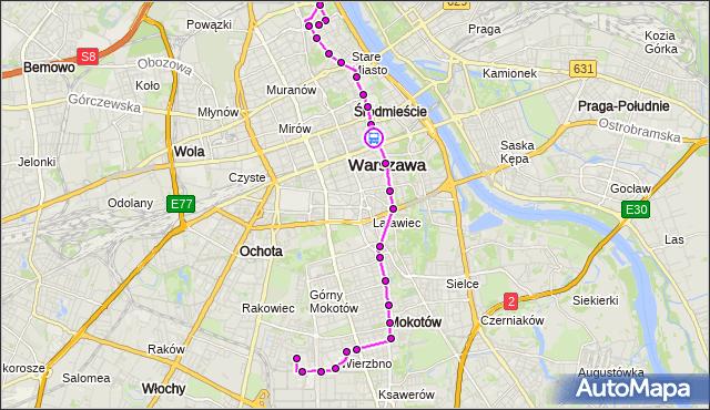 Rozkład jazdy autobusu 222 na przystanku Foksal 02. ZTM Warszawa na mapie Targeo