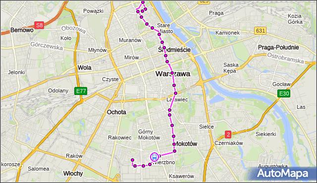 Rozkład jazdy autobusu 222 na przystanku Joliot-Curie 01. ZTM Warszawa na mapie Targeo