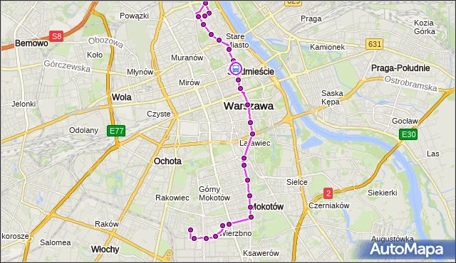Rozkład jazdy autobusu 222 na przystanku Uniwersytet 02. ZTM Warszawa na mapie Targeo