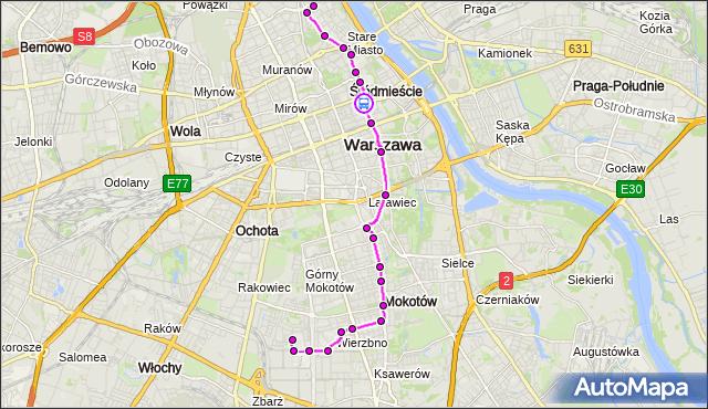 Rozkład jazdy autobusu 222 na przystanku Ordynacka 01. ZTM Warszawa na mapie Targeo