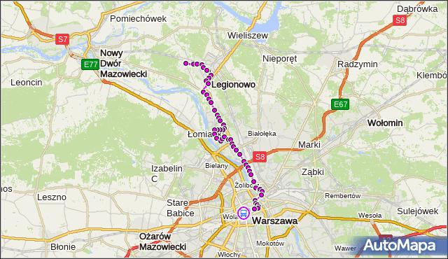 Rozkład jazdy autobusu N63 na przystanku RONDO ONZ 01. ZTM Warszawa na mapie Targeo
