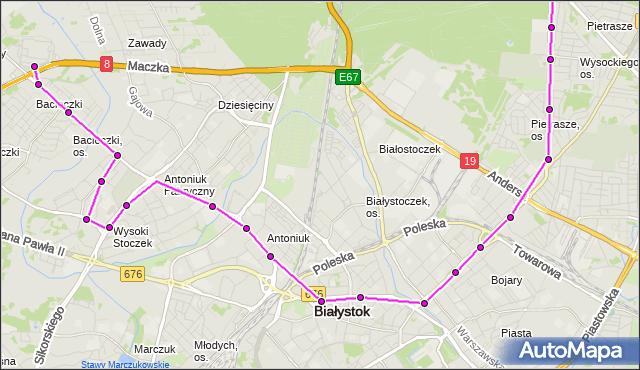 Rozkład jazdy autobusu 9 na przystanku ANTONIUK FABRYCZNY/KONSTYTUCJI 3 MAJA. BKM na mapie Targeo