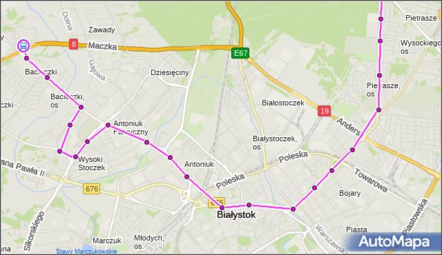 Rozkład jazdy autobusu 9 na przystanku Produkcyjna/Auchan. BKM na mapie Targeo