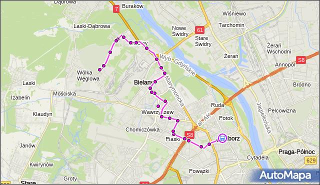 Rozkład jazdy autobusu 303 na przystanku pl.Wilsona 06. ZTM Warszawa na mapie Targeo