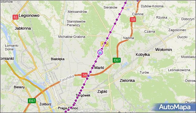 Rozkład jazdy autobusu 738 na przystanku Pustelnik 01. ZTM Warszawa na mapie Targeo
