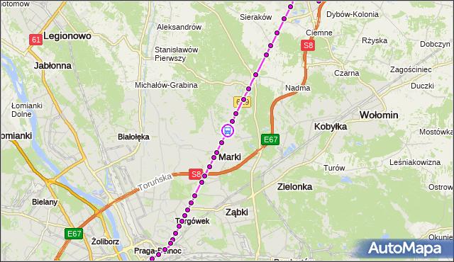 Rozkład jazdy autobusu 738 na przystanku Wspólna 01. ZTM Warszawa na mapie Targeo