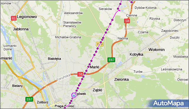 Rozkład jazdy autobusu 738 na przystanku Jórskiego 02. ZTM Warszawa na mapie Targeo