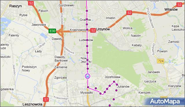 Rozkład jazdy autobusu 739 na przystanku Dąbrówka 02. ZTM Warszawa na mapie Targeo