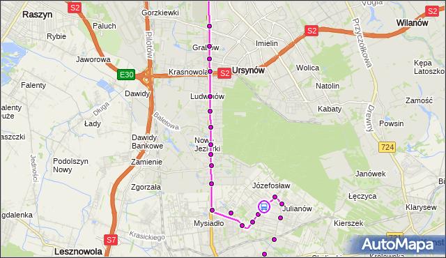 Rozkład jazdy autobusu 739 na przystanku Magnolii 02. ZTM Warszawa na mapie Targeo