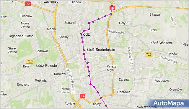 Rozkład jazdy tramwaju 6 na przystanku Zachodnia/Próchnika. MPK Łódź na mapie Targeo