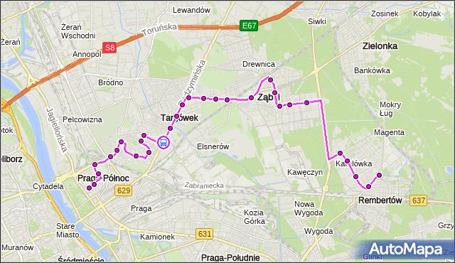 Rozkład jazdy autobusu 199 na przystanku Bieżuńska 02. ZTM Warszawa na mapie Targeo