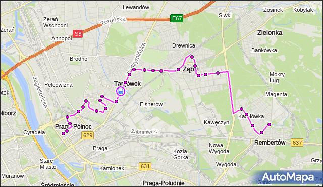 Rozkład jazdy autobusu 199 na przystanku Jórskiego 02. ZTM Warszawa na mapie Targeo
