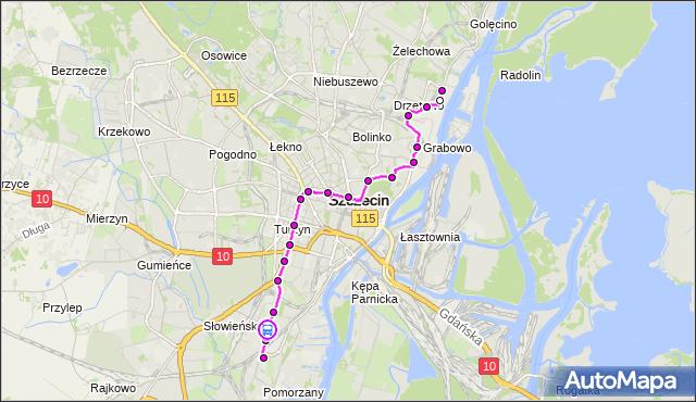 Rozkład jazdy tramwaju 11 na przystanku Szpitalna 12. ZDiTM Szczecin na mapie Targeo