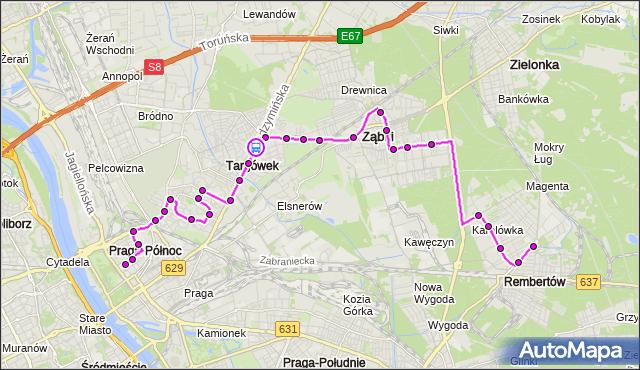 Rozkład jazdy autobusu 199 na przystanku Tużycka 02. ZTM Warszawa na mapie Targeo