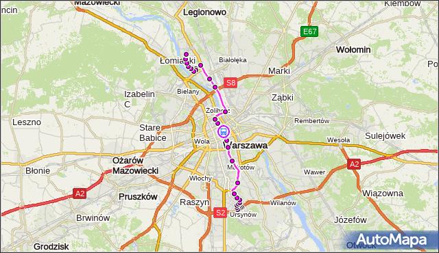 Rozkład jazdy autobusu 503 na przystanku Uniwersytet 02. ZTM Warszawa na mapie Targeo